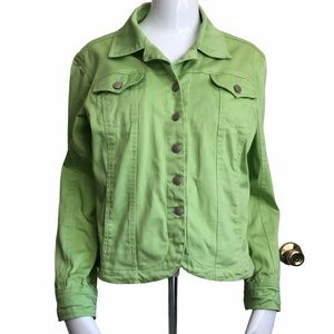 3/$25 LIVE A LITTLE Green Jacket .Size PM
